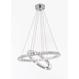 "Crystal Elipse Ring Chandelier LED Modern / Contemporary Lighting 23"" Wide"