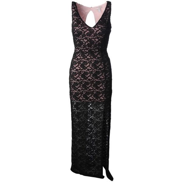 Aqua Womens Evening Dress Lace Cut-Out