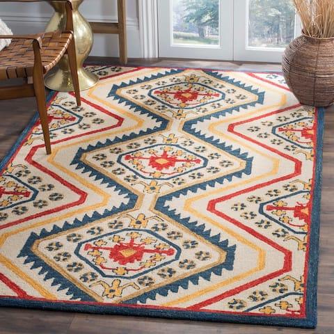 SAFAVIEH Handmade Aspen Maybelle Boho Tribal Wool Rug