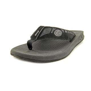 Reef Phantoms Men Open Toe Synthetic Black Flip Flop Sandal