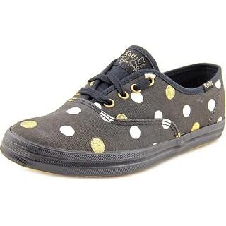 Keds CH TS Glitter Dot Women Round Toe Canvas Black Sneakers