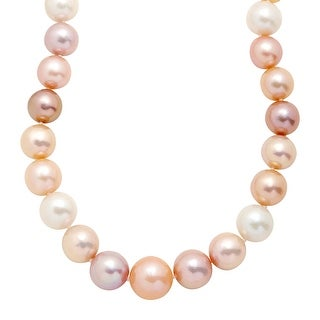 """Honora 12-16 mm Multicolored Freshwater Ming Pearl Strand Necklace in 14K Gold, 20"""" - Size 20 - Multi-Color"""