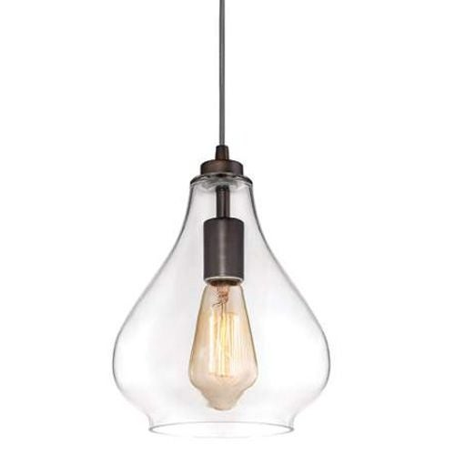 Westinghouse 6102600 1 Light Indoor Pendant with Clear Glass Shade