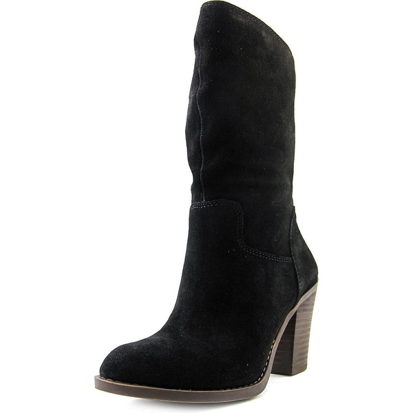 Lucky Brand Embrleigh   Round Toe Suede  Mid Calf Boot