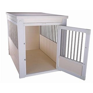 New Age Pet White Dog Crate W/ Metal Spindles Xl