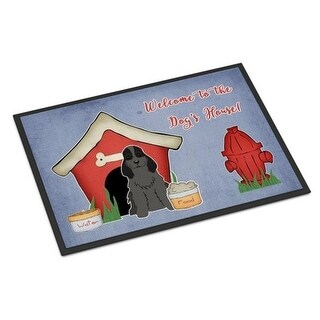 Carolines Treasures BB2846MAT Dog House Collection Cocker Spaniel Black Indoor or Outdoor Mat 18 x 0.25 x 27 in.