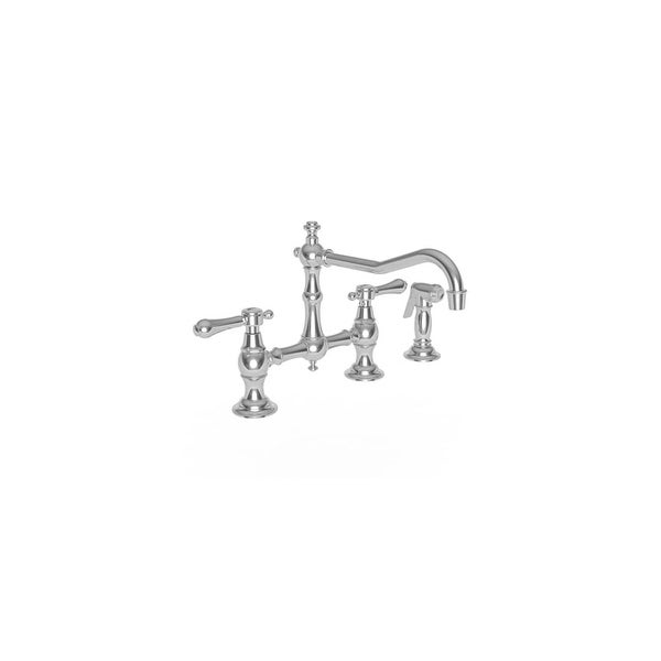 Newport Brass 9462 Chesterfield Bridge Style Kitchen Faucet   Side Spray  Included