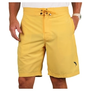 Blue Marlin Men's Stretch Solid Color Board Shorts