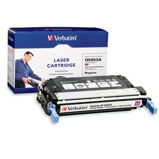 Verbatim 95482 Verbatim HP Q5953A Magenta Remanufactured Laser Toner Cartridge - Magenta - Laser - 10000 Page - OEM