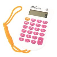 School Home Study Tool Pocket 8 Digit Electronic Calculator Multicolor