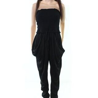 Catherine Malandrino NEW Black Women's Size 6 Strapless Jumpsuit Silk