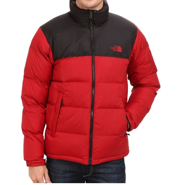 9008723c2129b Shop The North Face NEW Red Mens Large L Colorblock Full-Zip Puffer ...