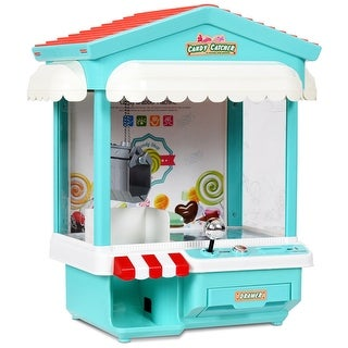 Costway Kids Electronic Claw Toy Grabber Machine Home Arcade w/ Lights & Music & Coins