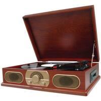 Studebaker Sb6052Wooden Turntable with Am/Fm Radio