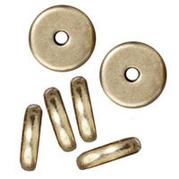 TierraCast Brass Oxide Finish Lead-Free Pewter Disk Heishi Spacer Beads 7mm (10)