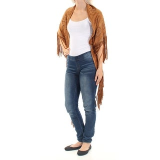 FAIRCHILD Womens Brown Fringed Faux Suede Open Top Size: ONE SIZE