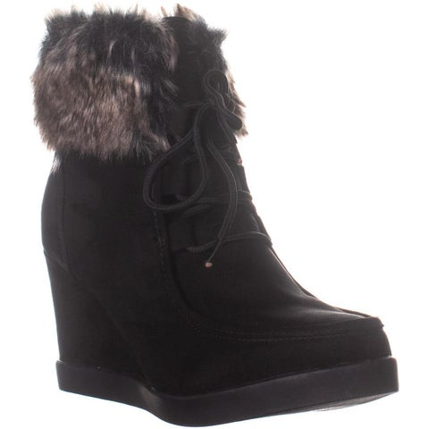 ESPRIT Felice Wedge Ankle Boots, Black - 9.5 US