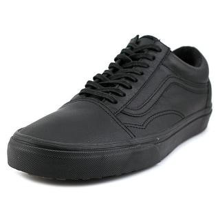 Vans Old Skool MTE Men Round Toe Leather Black Sneakers