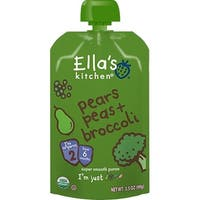 Ella's Kitchen  - Broccoli Peas & Pears Puree ( 12 - 3.5 OZ)