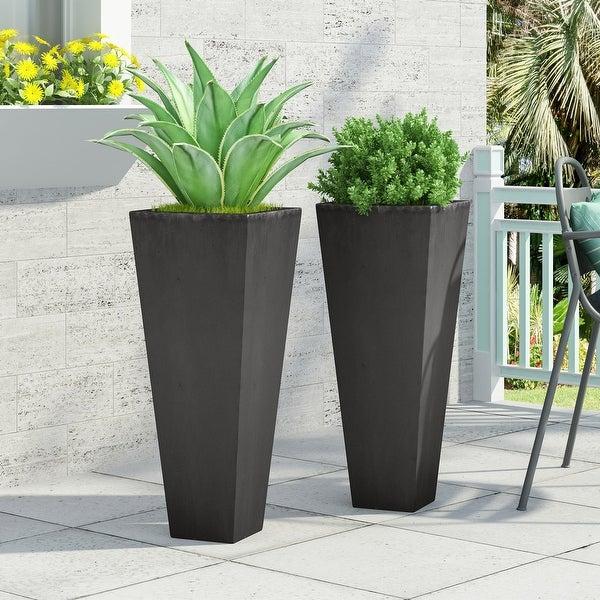 Ella Outdoor Cast Stone Outdoor Planters by Christopher Knight Home. Opens flyout.
