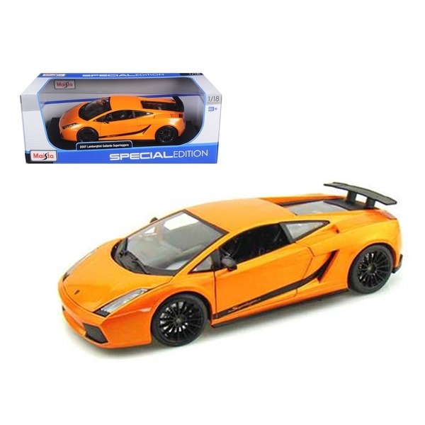 Maisto 1:18 Scale Diecast Model Black 2007 Lamborghini Gallardo Superleggera