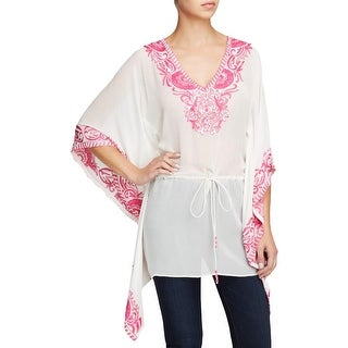 TAJ Womens Caftan Silk Sheer