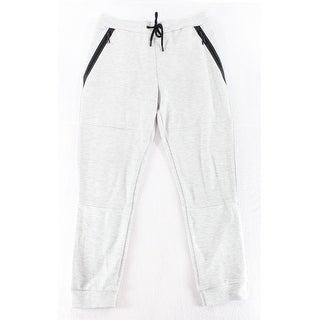 Topman NEW Gray Black Mens Size Large L Colorblock Drawstring Pants