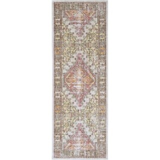 Surya GER2323-211710 Germili 3' x 8' Runner Synthetic Power Loomed Traditional A - Pink