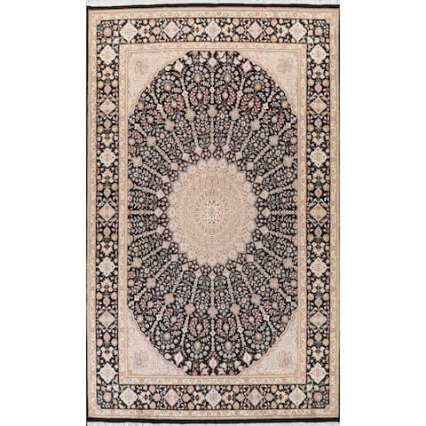 "Wool/ Silk Vegetable Dye Geometric Nain Oriental Area Rug Hand-knotted - 7'0"" x 10'3"""