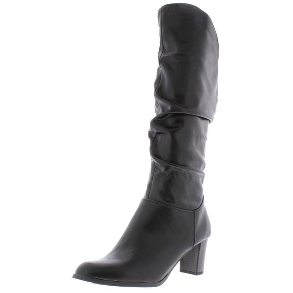 Easy Street Womens Tessla Leather Round Toe Knee-High Boots