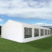 Costway 20'X26' Wedding Tent Shelter Heavy Duty Outdoor Party Canopy Carport White