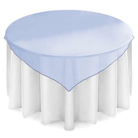"""Organza Wedding Table Overlay - Tablecloth Topper 72"""" Square"""