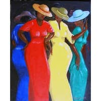 ''Swaying to the Music'' by Romeo Downer African American Art Print (36 x 24 in.)