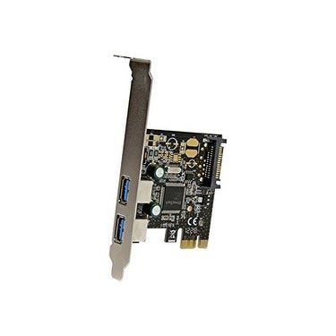 Startech 2 Port Pci Express Pcie Superspeed Usb 3.0 Controller Card With Sata Power - Dual Port Pci Express Usb 3 Ad