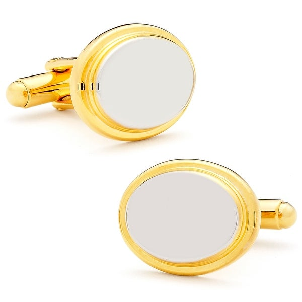 Two Tone Oval Cufflinks