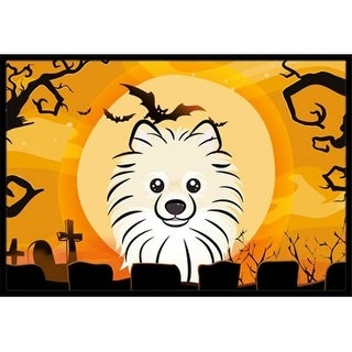 Carolines Treasures BB1765MAT Halloween Pomeranian Indoor & Outdoor Mat 18 x 27 in.
