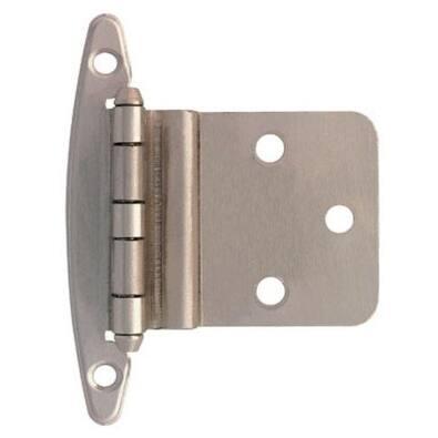 """Liberty Hardware H00930L-SN-U Inset Hinge Without Spring 3/8"""", Satin Nickel"""