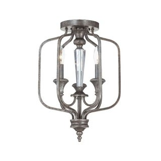 Craftmade 26723 3 Light Up Lighting Semi-Flush Convertible Ceiling Fixture from the Boulevard Collection