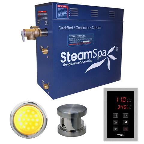 SteamSpa INT600 Indulgence 6 KW QuickStart Acu-Steam Bath Generator Package with Touch Controller