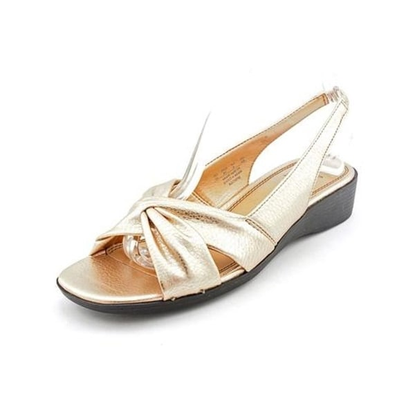Life Stride Mimosa 2 Women WW Open-Toe Synthetic Gold Slingback Sandal