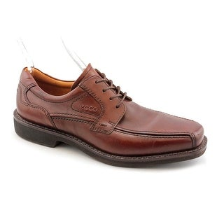 Ecco Seattle Lace Men Bicycle Toe Leather Brown Oxford