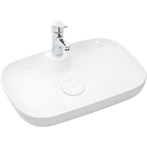 "WS Bath Collections Vision 16260 Vision 23-3/5"" Ceramic Single Hole - Gloss White"