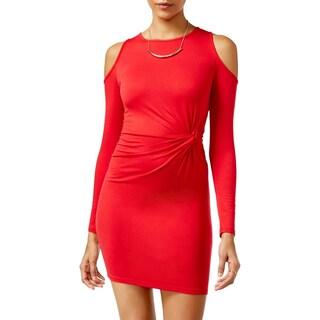 Ultra Flirt Womens Juniors Casual Dress Sheath Twist (Option: M - Red)