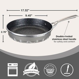 Link to Non-Stick Ceramic Coated Die-Cast Aluminum Round Frying Pan with Induction Bottom  8.7 inch Similar Items in Cookware