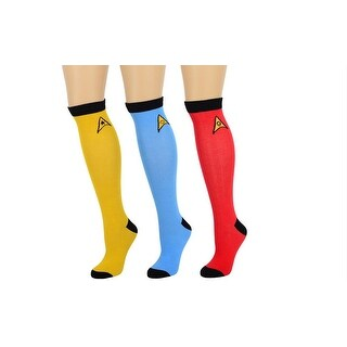 Star Trek OS Ladies Knee High 3 Pair Socks Set One Size