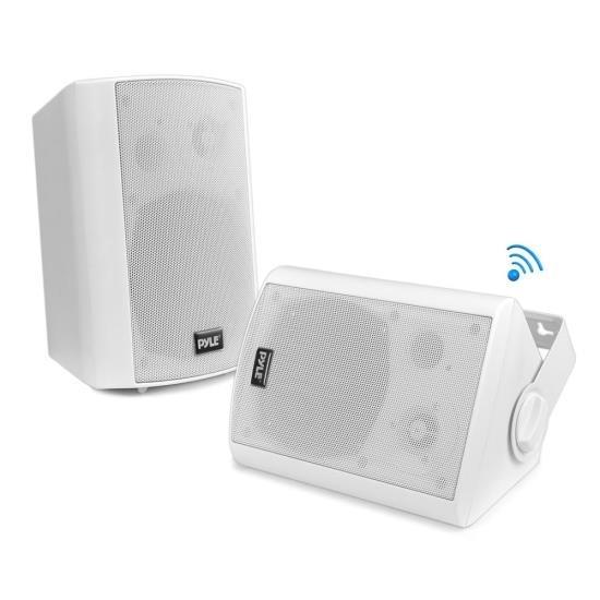 Wall Mount Waterproof & Bluetooth 6.5'' Indoor / Outdoor Speaker System, White