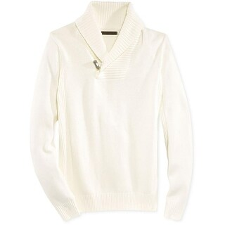 Sean John Mens Pullover Sweater Knit Shawl Collar