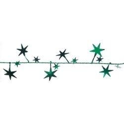 Green - Foil Star Garland 25'