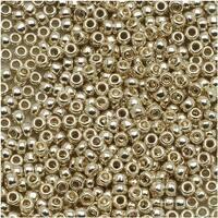Toho Round Seed Beads 11/0 PF558 'Galvanized Aluminum' 8g