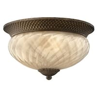 Hinkley Lighting H2123 3 Light Outdoor Flush Mount Ceiling Fixture from the Plantation Collection